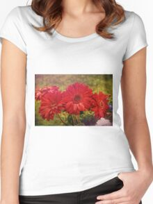 Antiqued Garden Women's Fitted Scoop T-Shirt