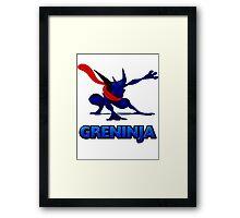 Dark Greninja Design Framed Print