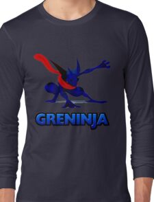 Dark Greninja Design Long Sleeve T-Shirt