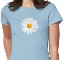 fresh white daisy Womens Fitted T-Shirt