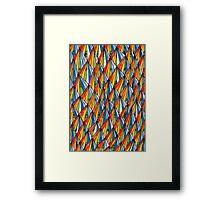 WaterColor Rainbow Pyramids  Framed Print