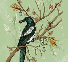 Magpie Birds by lascarlatte