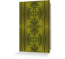 Yellow Rattan Doubled Greeting Card