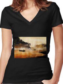 akwarelka 38 Women's Fitted V-Neck T-Shirt