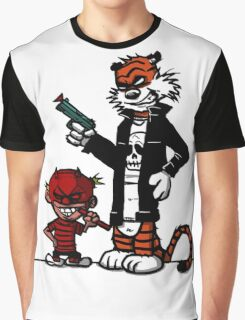 Calvin and Hobbes Gangsta Graphic T-Shirt