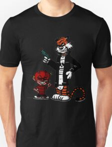 Calvin and Hobbes Gangsta Unisex T-Shirt