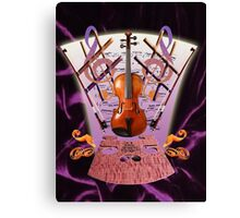 Violin Velvet Canvas Print