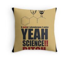Yeah science! Throw Pillow
