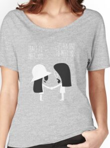 Peace to Meet You Funny Tshirt Women's Relaxed Fit T-Shirt