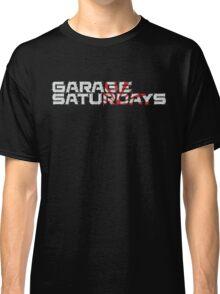 Garage Saturdays white sketch and sun Classic T-Shirt