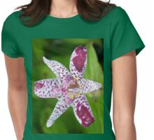 Purple spotted Lily Womens Fitted T-Shirt