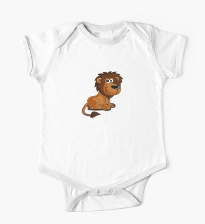 Baby Lion Roar - Kids Clothing Cartoon Tee One Piece - Short Sleeve
