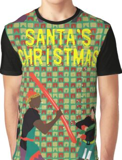 Santa's Christmas Feature Film Official Poster Graphic T-Shirt