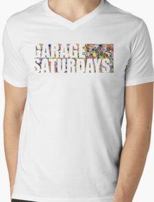 Garage Saturdays sticker bomb Mens V-Neck T-Shirt