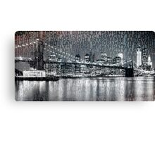 Urban-Art NYC Brooklyn Bridge III Canvas Print