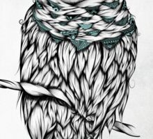 Poetic Snow Owl  Sticker
