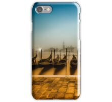 VENICE Gondolas on a foggy morning  iPhone Case/Skin