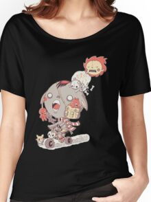 funny cartoon Women's Relaxed Fit T-Shirt