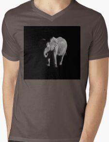 Baby African Elephant Portrait Mens V-Neck T-Shirt