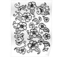 Henna Mehendi Florals Poster