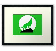 Green Wolf Framed Print