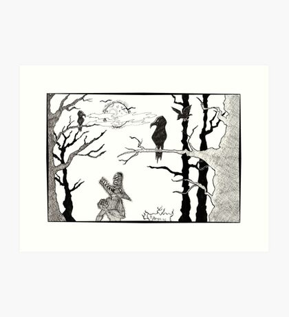 Beware the creepy forest Art Print