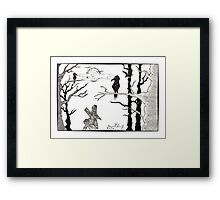 Beware the creepy forest Framed Print
