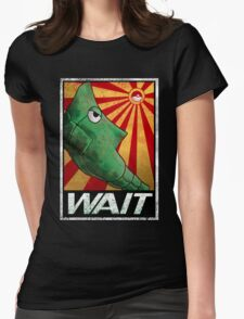 To be patient for win. Womens Fitted T-Shirt