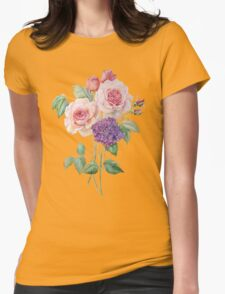 roses and  hydrangea Womens Fitted T-Shirt
