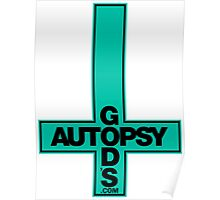 God's Autopsy light blue Poster