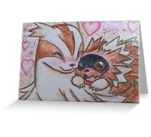 Pokemon Zigzagoon & Linoone (Fanart) Greeting Card