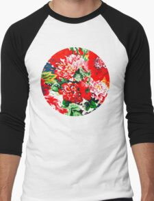 Flower Power I Men's Baseball ¾ T-Shirt