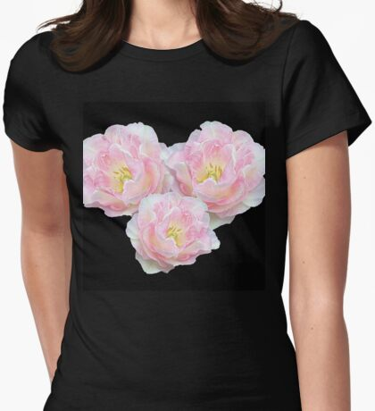 Textured Roses Womens Fitted T-Shirt