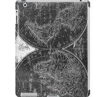 World Map (1811) Black & White iPad Case/Skin