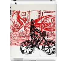 Black & Red Print - Flower Wheels iPad Case/Skin