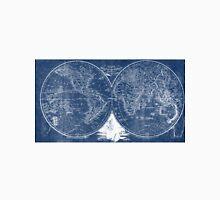 World Map (1811) Blue & White  Unisex T-Shirt