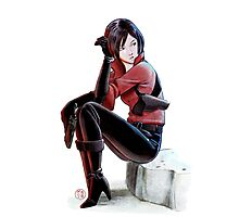 Resident evil - Ada Wong Tribute Photographic Print