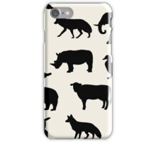 animals icons,vector illustration iPhone Case/Skin