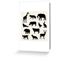 animals icons,vector illustration Greeting Card