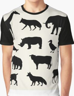 animals icons,vector illustration Graphic T-Shirt