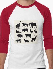 animals icons,vector illustration Men's Baseball ¾ T-Shirt