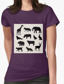 animals icons,vector illustration Womens Fitted T-Shirt