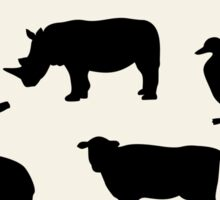 animals icons,vector illustration Sticker