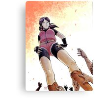 Resident evil - Claire Redfield Tribute Canvas Print