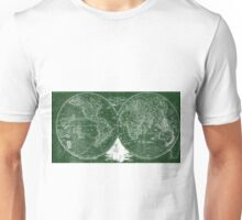 World Map (1811) Green & White  Unisex T-Shirt
