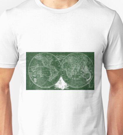 World Map (1811) Green & White  Unisex T-Shirt