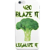 Broccoli 420 iPhone Case/Skin