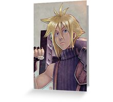 Final Fantasy VII - Cloud Strife Tribute Greeting Card
