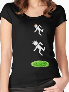 rick and morty 3 Women's Fitted Scoop T-Shirt