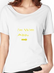 I'm With Aibou Women's Relaxed Fit T-Shirt